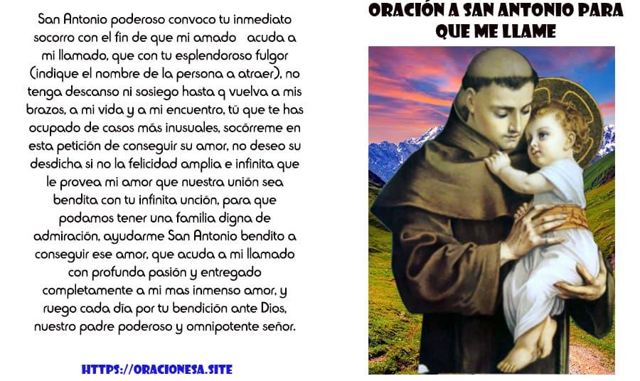 Oracion A San Antonio Para Que Me Llame Pronto Oraciones A Santos