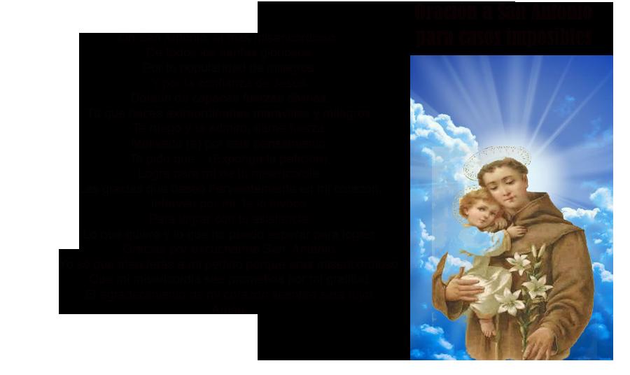 Oración a San Antonio para casos imposibles